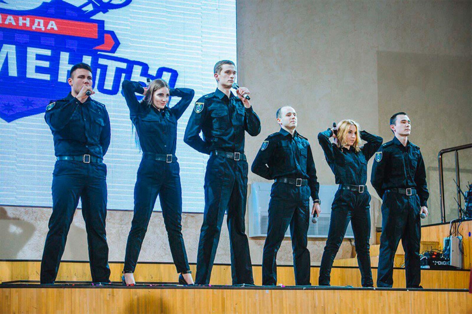 Команда КВК ДДУВС на «Лізі Сміху-2017»