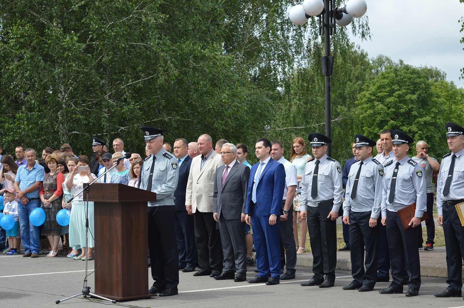 З привітальним словом до поліцейських, їхніх рідних та гостей звернувся Андрій Фоменко