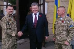 Петро Порошенко зустрівся з захисниками України різних поколінь, серед яких був доцент ДДУВС Кирил Недря