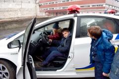 Юні кадети змогли приміряти на собі роль патрульного поліцейського