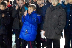 Під час екскурсії навчальним закладом кадети спілкувалися з курсантами