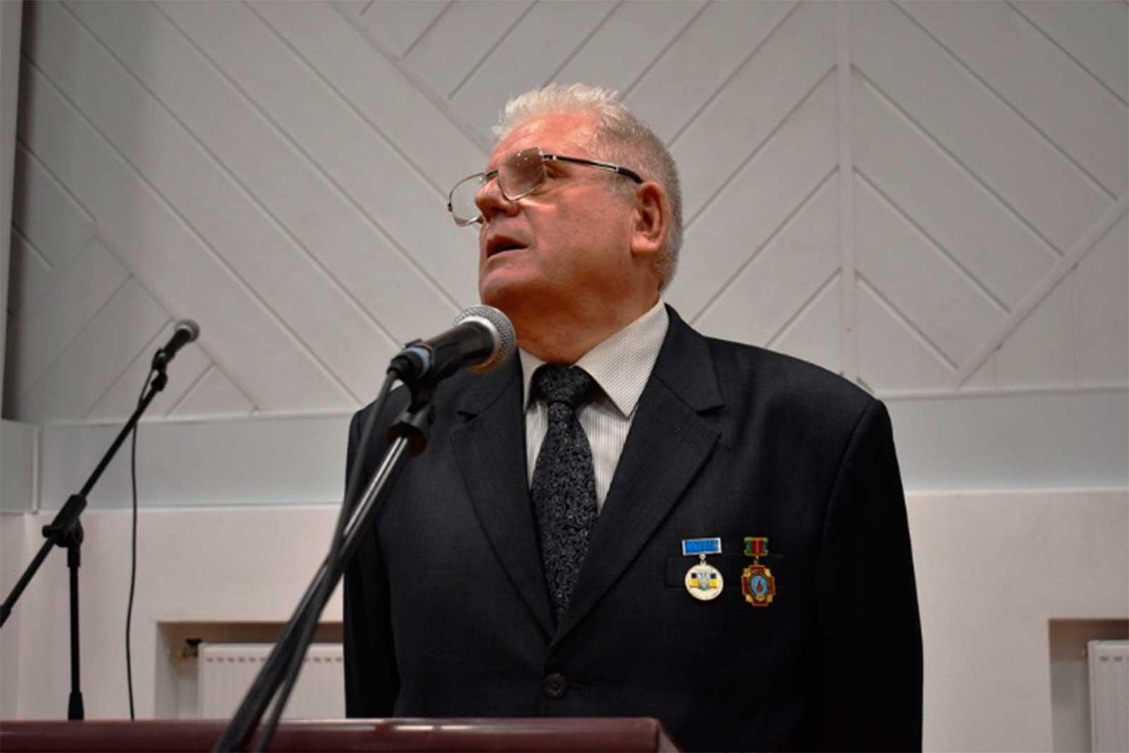 Про історію створення та розвитку ветеранської організації розповів присутнім Голова Ради ветеранів ДДУВС Леонід Камишов