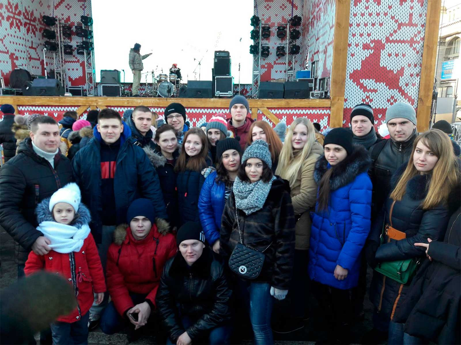 Курсанти та студенти ДДУВС на Дні Соборності України