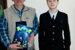 Голова Ради ветеранів Олександр Тішик та студент 1 курсу Єгор Якушев