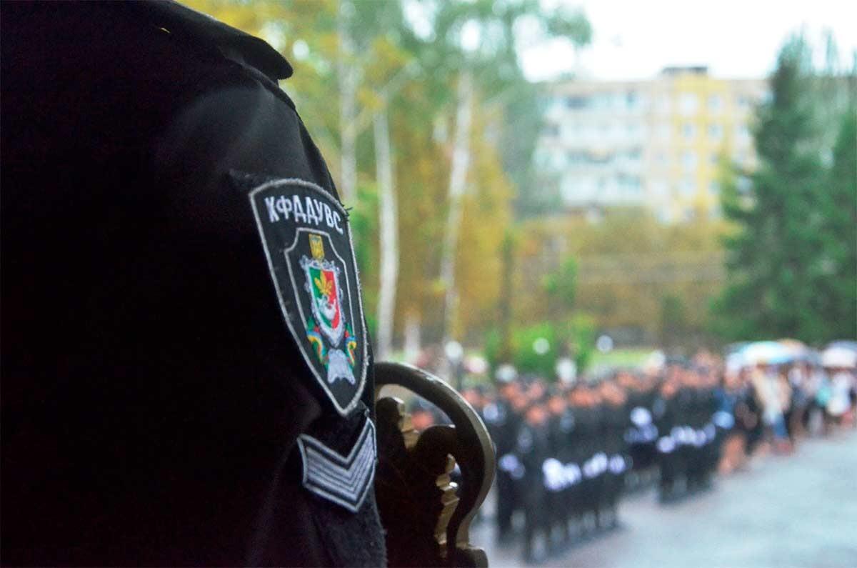 Наприкінці урочистостей курсанти та слухачі Криворізького факультету пройшли урочистим маршем.