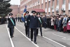 Урочисті заходи розпочалися з внесення університетського прапору.