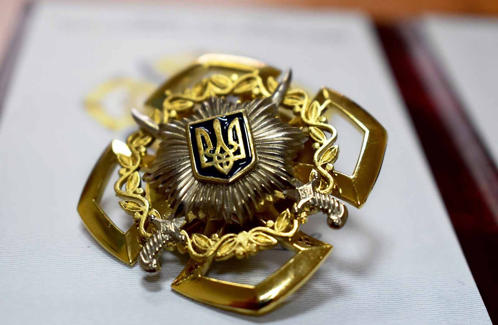 Артема Каверіна нагородили нагрудним знаком «За відвагу в службі».