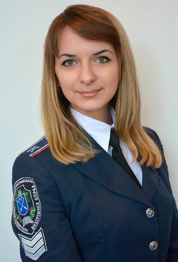 Голова НТКСС – Фоменкова Катерина Сергіївна курсант 3-го курсу факультету № 3 рядовий поліції