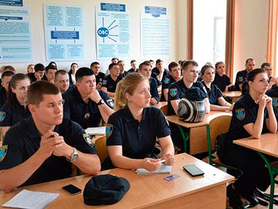 В університеті відбулися заняття для патрульних поліцейських Дніпра