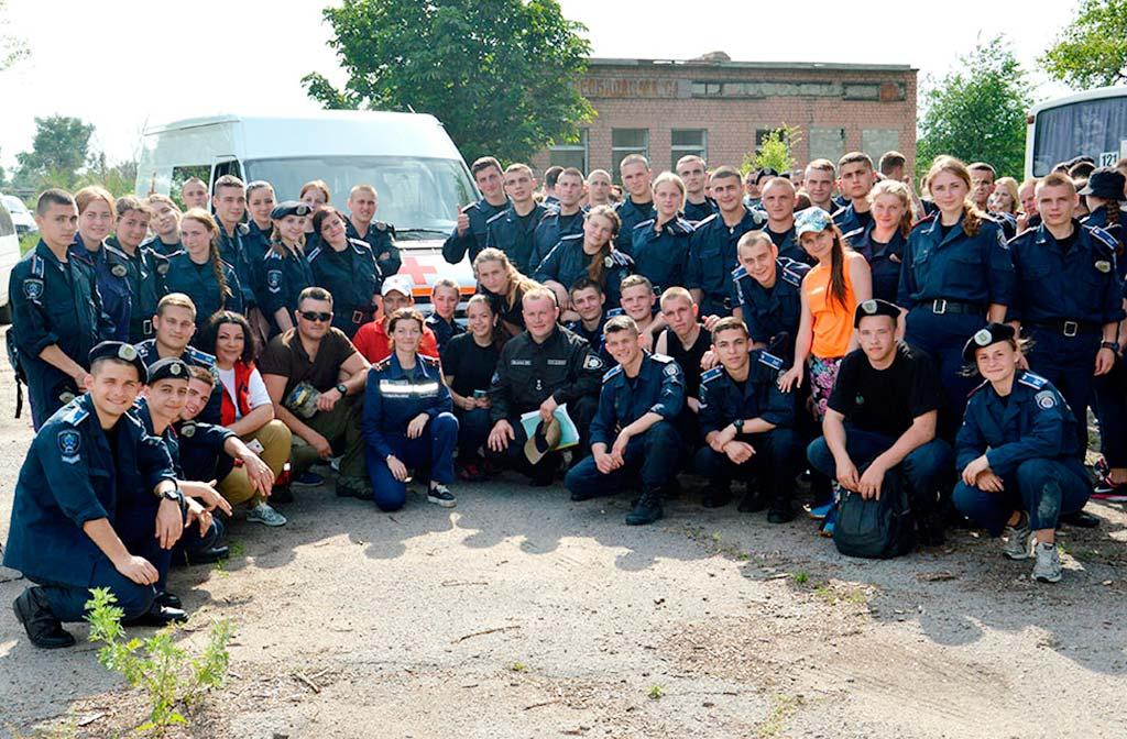 Курсанти вчилися правилам пожежної безпеки та порятунку постраждалих