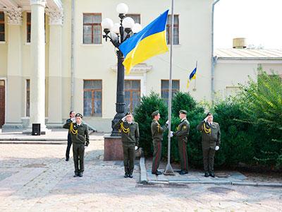 Курсанти та співробітники ДДУВС відзначили День Державного Прапора України та взяли участь в акції «Соборний лист до України»