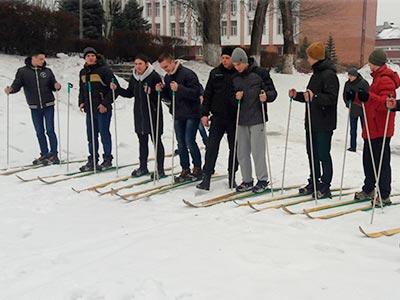 Вперше у Дніпропетровському державному університеті внутрішніх справ пройшли змагання з лижних перегонів