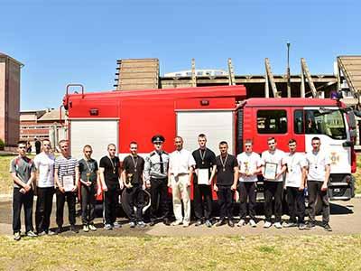 В університеті відбулись традиційні змагання пожежних формувань із виконання дій за призначенням