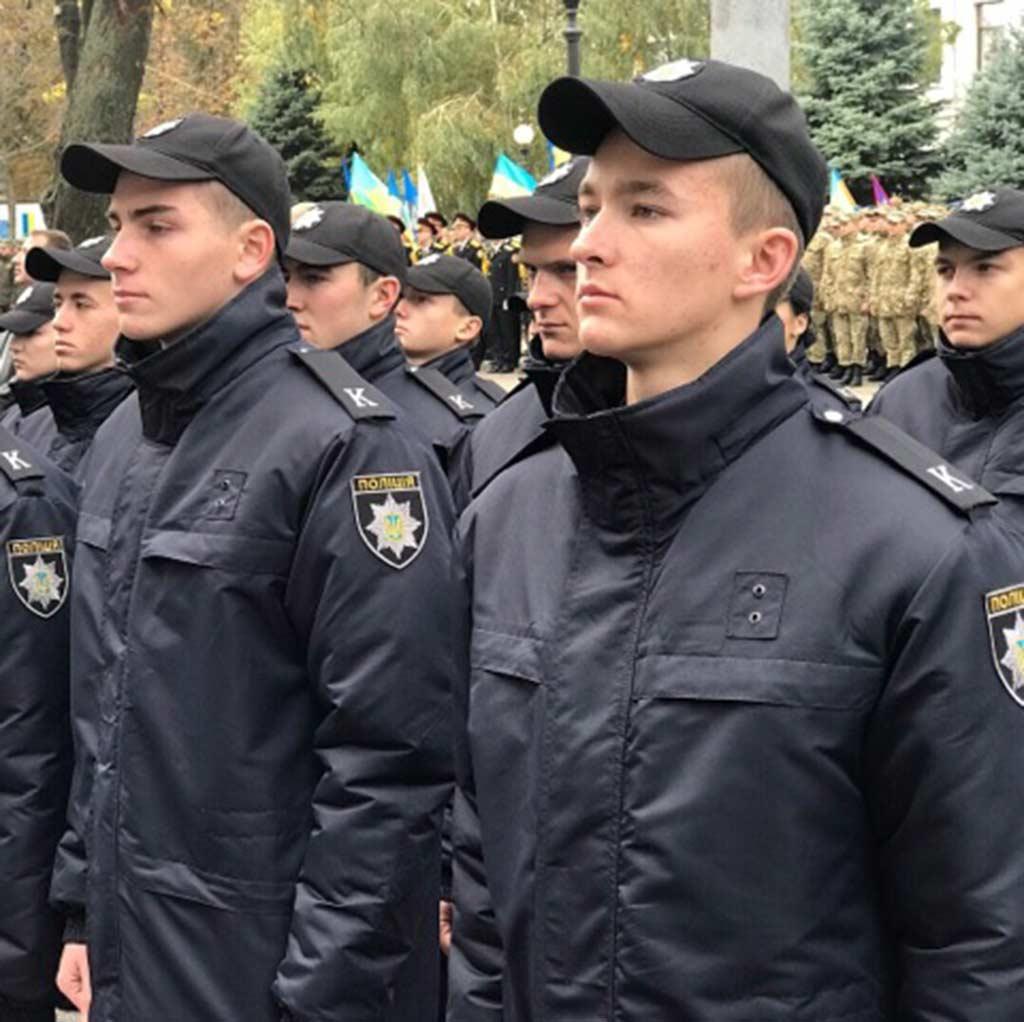 Складання курсантами Дніпропетровського державного університету внутрішніх справ Присяги працівника поліції