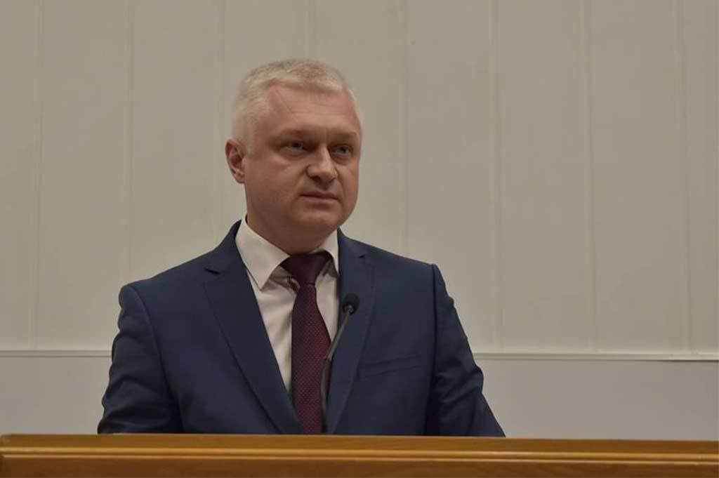 З вітальним словом до обдарованих школярів звернувся ректор ДДУВС Андрій Фоменко