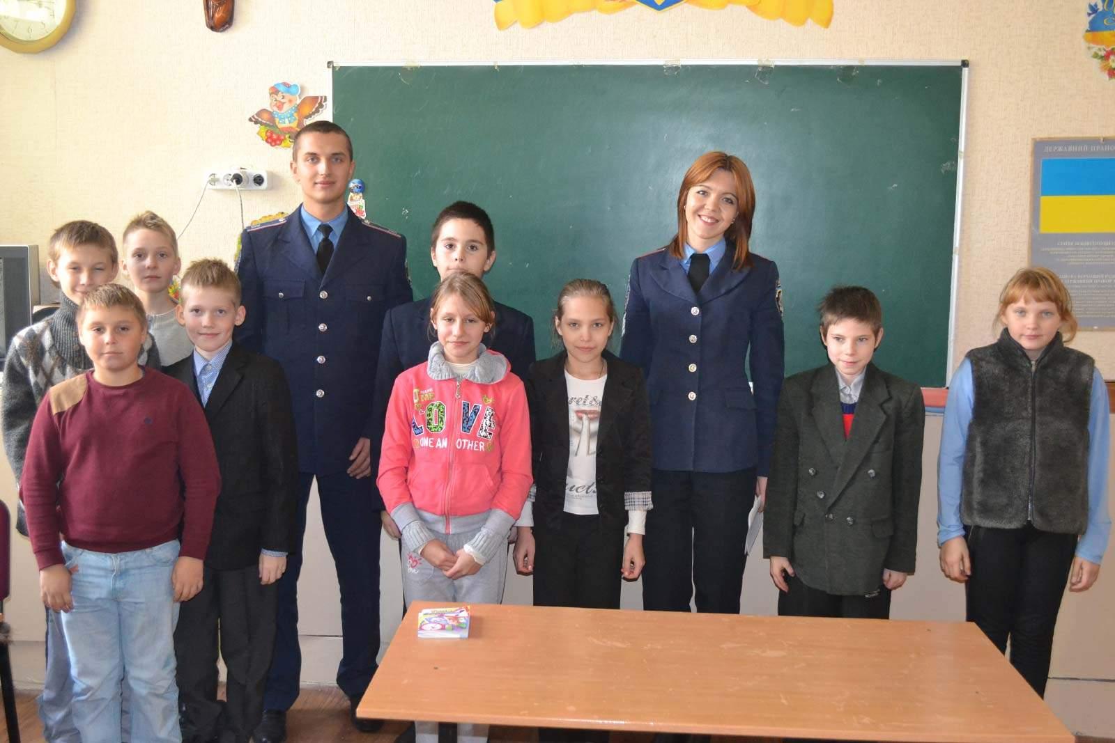 Курсанти університету провели лекцію для учнів школи-інтернату