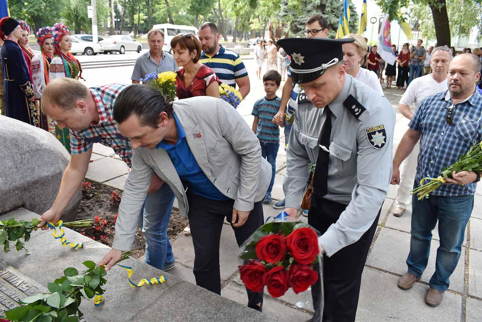 Від ДДУВС був присутній т.в.о. першого проректора підполковник поліції Роман Кацуба