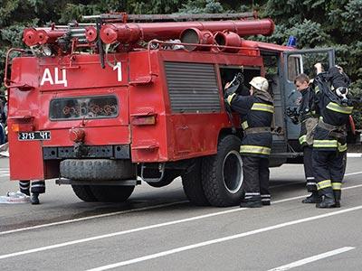 Протипожежне тренування на території Дніпропетровського державного університету внутрішніх справ