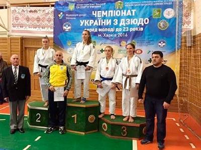 З Чемпіонату України з дзюдо курсантка ДДУВС повернулася з бронзою