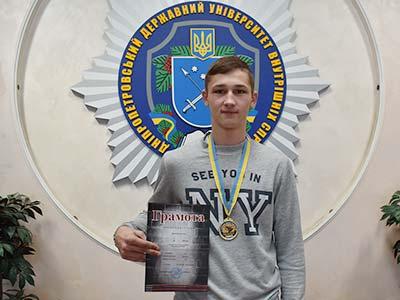 На змаганнях із кікбоксингу студент ДДУВС виборов 121-шу медаль
