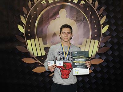 Курсант ДДУВС став чемпіоном на всеукраїнських змаганнях з пауерліфтингу