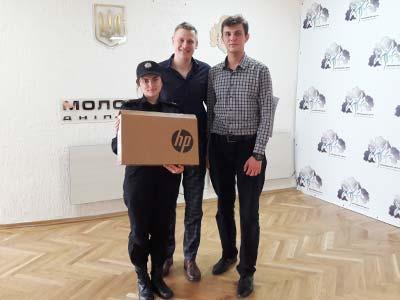 Студенти університету у подарунок від «Молодіжного Центру Дніпропетровщини» отримали ноутбук