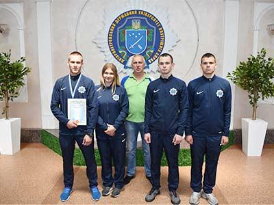 Серед призерів всеукраїнських змагань з поліатлону – команда ДДУВС
