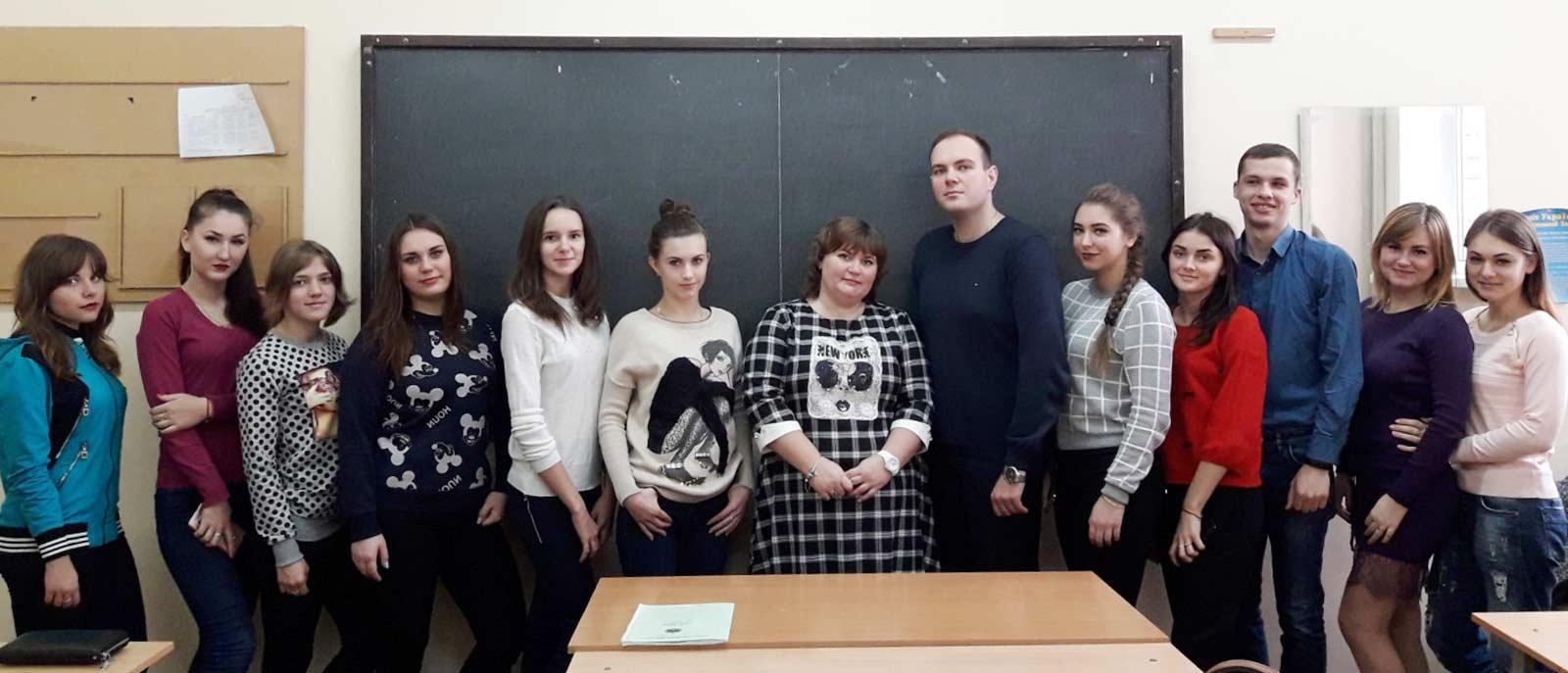 Адвокат Євгенія Бондар провела заняття для першокурсників юридичного факультету ДДУВС