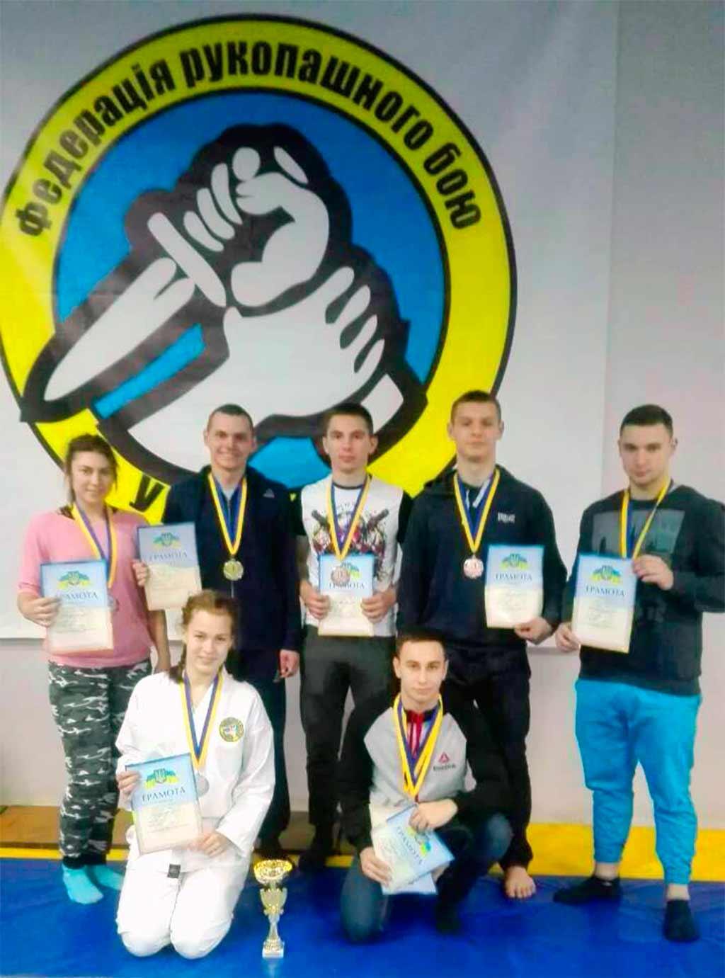 З обласних змагань з рукопашного бою курсанти університету привезли 10 призових медалей