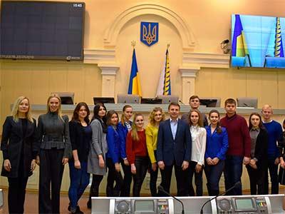 Студенти Дніпропетровського державного університету внутрішніх справ побували в обласній раді з ознайомчою екскурсією