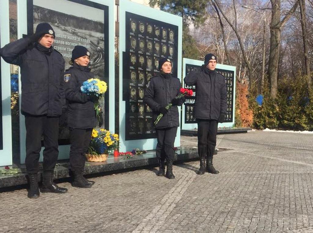 Студенти та курсанти навчального закладу побували на Алеї пам'яті