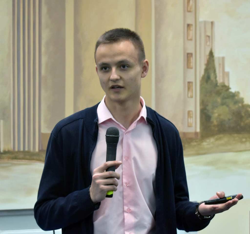 Студент юридичного факультету Ілля Жушман