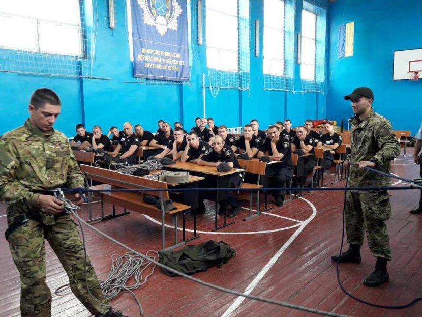 В «Академії поліції» опановували висотно-штурмову підготовку