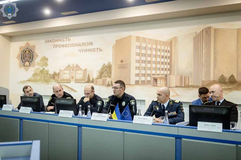 International plenary discussion in Dnipropetrovsk State University of Internal Affairs