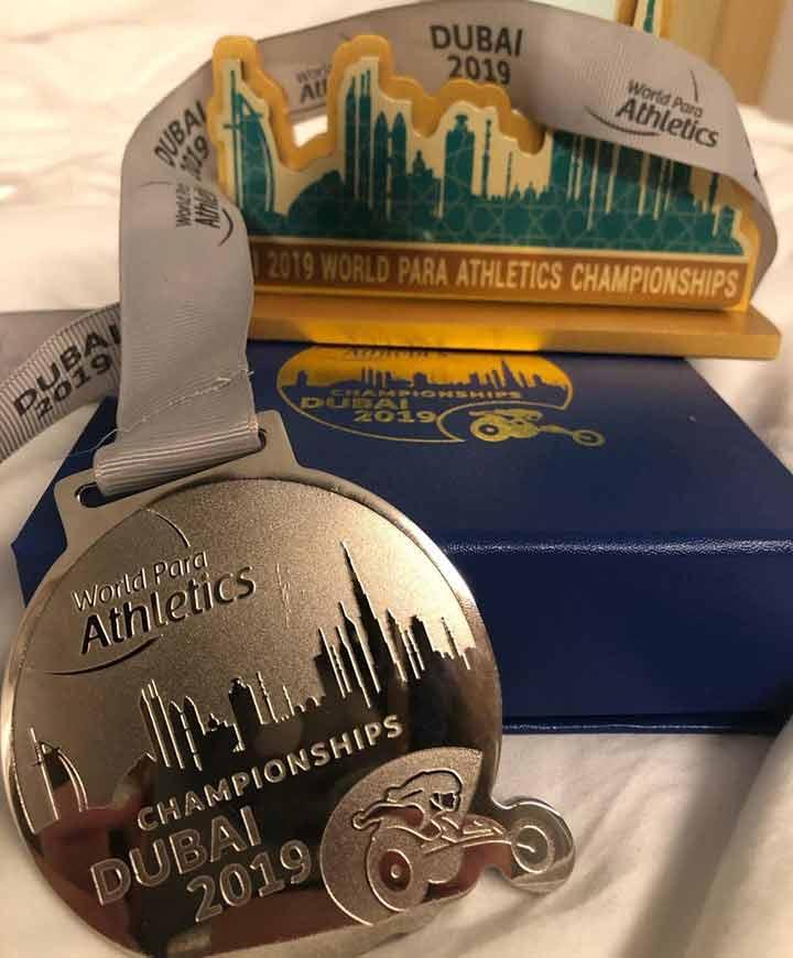 На Чемпіонаті світу з легкої атлетики викладачка ДДУВС виборола срібло та бронзу